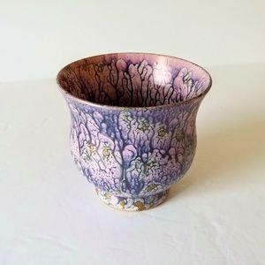 Purple Cup Candle Holder Home Accent Decor